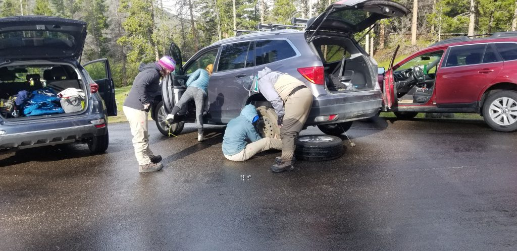 every good guide knows how to change a tire